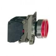 Buton cu revenire 1NO+1NC cu lampa rosie 230V