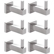 Doyours Stainless Steel Robe Hooks Glossy - 6 Pcs