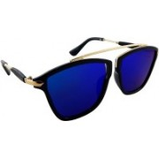 ELS Rectangular Sunglasses(Blue)