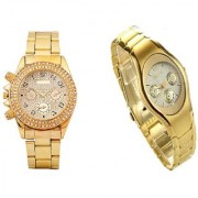 Paidu Gold Dimond dial And Rosra Gold Ledish Watches For Men Women