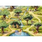 """Fototapet """"padurea Lui Winnie""""- Colectia Disney"""