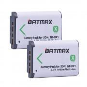 2 Stks NP-BX1 NP BX1 accu (1600 mAh) voor SONY DSC RX1 RX100 RX100iii M3 M2 RX1R WX300 HX300 HX400 HX50 HX60 GWP88 PJ240E