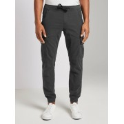 TOM TAILOR DENIM Chino joggingbroek, Heren, grey dot dobby yarndye, L