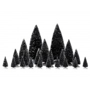 Lemax 21 PC Assorted Pine Trees