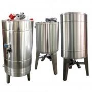 Bazin pentru miere 1000KG cu omogenizator, stand, agitator si incalzire
