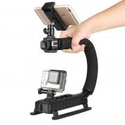 Ulanzi 4 in 1 Handheld Video Stabilizer Gimbal Handvat Steadicam Rig voor Gopro Hero 5 4 Actie Camera Sjcam XIAOMi Yi voor iphone