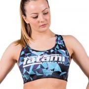 Tatami Fightwear Tatamis Fightwear géométriques Sports Bra - bleu/noir