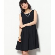 【WEDDINGS&PARTIES】ネックレス付きタックドレス