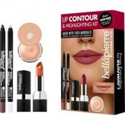 Bellápierre Cosmetics Make-up Sets Lip Contour & Highlighting Kit Makeup Base 8,5 g + Highlighter Pencil 1,8 g + Gel Lip Liner Cinnamon 1,8 g + Mineral Lipstick Fierce 3,5 g 1 Stk.