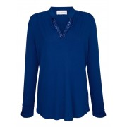 AMY VERMONT Shirt mit Pailletten, blau