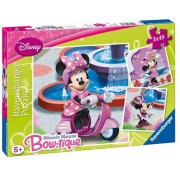Puzzle Minnie Mouse in parc, 3x49 piese Ravensburger