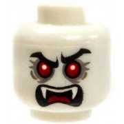 LEGO LOOSE HEAD Dual-Sided White Male Vampire With Red Eyes