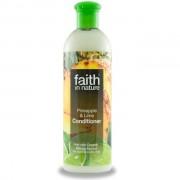 Balsam de par Faith in Nature, cu ananas si lime, pt. par normal sau gras, 400 ml