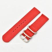 Curea din tesatura de nylon roșie catarame zulu 22mm - 4080622