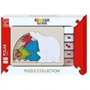 Hape George Luck Polar Wood Puzzle (5 Piece)