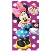 Disney Mimmi Pigg Handduk 35 x 65 cm Cupcakes Lila Prickig