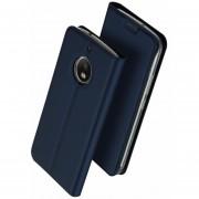 Para Motorola Moto G5S PLUS Flip PU Teléfono Funda-Azul