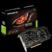 VGA Gigabyte GV-N1050WF2OC-2GD, nVidia GeForce GTX 1050, 2GB 128-bit GDDR5, do 1531MHz, DP, DVI-D, HDMI 3x, 36mj
