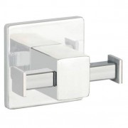 WENKO Nástěnný věšák od firmy WENKO se dvěma rameny ve stříbrné barvě, ideální pro kuchyně a koupelny