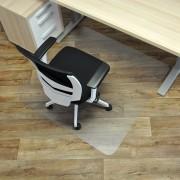 Čirá podložka pod židli na hladké povrchy 01 - délka 120 cm, šířka 120 cm a výška 0,15 cm