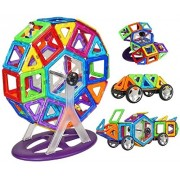 Montez 58 PCS Mag Magical Magnetic Building Blocks 3D Magic Play Stacking Set DIY for Brain Development