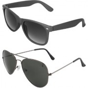 Zyaden Combo of Wayfarer Sunglasses Aviator Sunglasses (Combo-10)