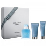 Light blue pour homme eau intense - Dolce e Gabbana CONFEZIONE REGALO profumo 100 ml EDP SPRAY + after shave balm 75 ml + shower gel 50 ml