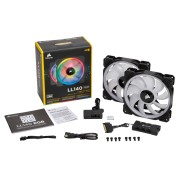 Corsair LL140 RGB 120mm Dual Light Loop PWM 2 Fans + Controller + 6 Port Hub