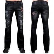 Herren Hose Jeans WORNSTAR - Riven - Schwarz - WSGP-RVN