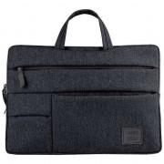 """UNIQ Cavalier laptop sac manșon 15 """"negru / cărbune negru"""