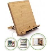 LeafU leesboek Standaard - Bamboe Boekenstandaard - Kookboekstandaard - iPad Standaard/Tablet Standaard - Boekenhouder - Book holder