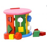 Fusine™ Educational Shape Sorting Cube Wooden toy