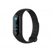 Brățară m2s inteligentă neagră-monitor de ritm cardiac pentru Android și IOS.