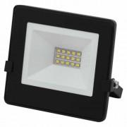 Proiector LED Slim, 10W, IP65, negru, 25000 ore, 6500 K, rece