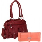 Lady bar Women Fasion Clutch Bag Maroon, Pink Messenger Bag