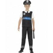 Costum politist copii carnaval uniforma 150 cm 10-12 ani