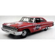 NEN 1:18 SUNSTAR AMERICAN COLLECTIBLE - RED 1963 FORD GALAXIE 500 XL RACING - #15 B. WILLIAMS/ M. STEELE - GOODWOOD REVIVAL 2011 - ST. MARY'S TROPHY RACE Diecast Model Car By SunStar