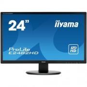 Monitor iiyama E2482HD-B1, 24'', LCD, 5ms, 250cd/m2, 1000:1 (12M:1 ACR), FullHD, VGA, DVI