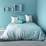 Parure de couette coton 240x260 cm Ayna Turquoise
