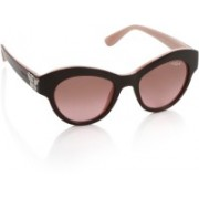 Vogue Oval Sunglasses(Pink, Brown)