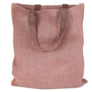 PRAHAN INTERNATIONAL Carry Bag Natural Juit Hand Carry Bag with two Handle Strap PS2007E(Pink)