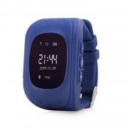 Ceas inteligent pentru copii Q50 Bleumarin cu telefon localizare GPS si monitorizare spion