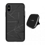 Set Husa Magnetica Nillkin Magic Case Apple iPhone X si Incarcator auto Wireless Magnetic Nillkin II Tip B