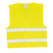 Jelzőmellény, két csíkos, EU szabvány, S/M (MED008)