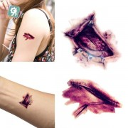 Halloween Fake Scab Bloody Makeup Zombie Scars Tattoos Terror Wound Scary Bloody Sticker