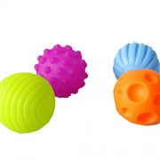 DuShow Textured Multi Ball Set/ Baby Sensory Balls Set/ Soft Balls Educational Toys 4Pcs