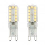 2 stuk G9 5W 220V 22 Bulb Transparent Koud witte LED Lamp capsule
