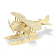 Wooden Simulation Plane Assembly Puzzle Model 3D Plane Puzzles Block Educational Toy Gift for Kids