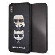 """""""Husa iPhone XS Max Karl Lagerfeld & Choupette Hard Case PU Negru"""""""