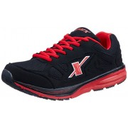 Sparx Men's Black and Red Mesh Running Shoes - 6 UK (SX0195G)